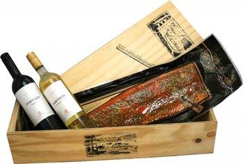 Zalm citroen-peper witte en rode wijn